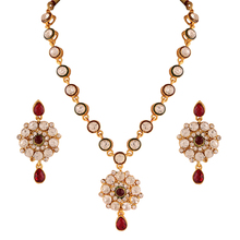 Designer Traditional Gold Plated Indian Jewellery Necklace Set for Women