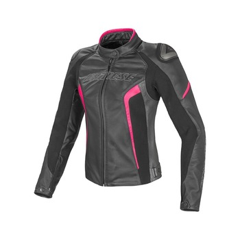Women D1 Leather Motorcycle Jacket