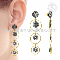 Popular Fashion Jewelry For Women 925 Silver Jewelry White CZ Earring Handmade Silver Jewelry Exporter