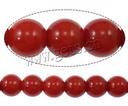 jewelry Round dyed different size for choice red Grade A Natural Coral beads 191878