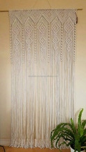 Macrame handmade curtain room divider door curtain, retro wall hanging,