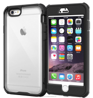 Scratch Resistant Clear PC/TPU Full Body Protection Case Cover Built-in Screen Protector for iPhone 6 6s Plus 5.5 roocase(black)