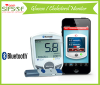 SIFGLUCO-3.1 High Tech Blood Glucose Monitor With Bluetooth, 30 Sec Cholesterol Meter, Blood Glucose Test Strips