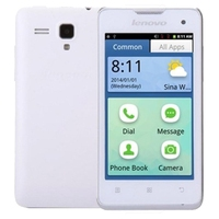 Lenovo A3 4.0 inch Android OS 2.3 Smart Phone, Dual SIM - White