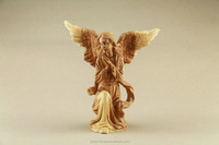 Olive Wood Figure of Angel. Hand Made. Carved. Big size