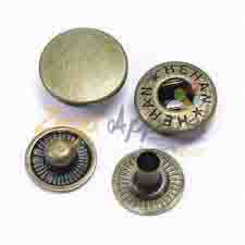 Zega Apparel Custom made bulk butterfly style two parts of metal snap button