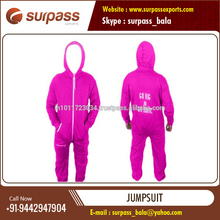 Long Sleeve Cotton Fleece Jumpsuit for Men and Women