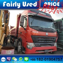 Slightly used Sinotruck Howo A7 8x4 dump truck of A7 8x4 dump truck used price, Howo A7 dump truck