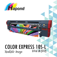 COLOR EXPRESS 10S-L Konica 512 print head, 3.2 wide format solvent inkjet printer