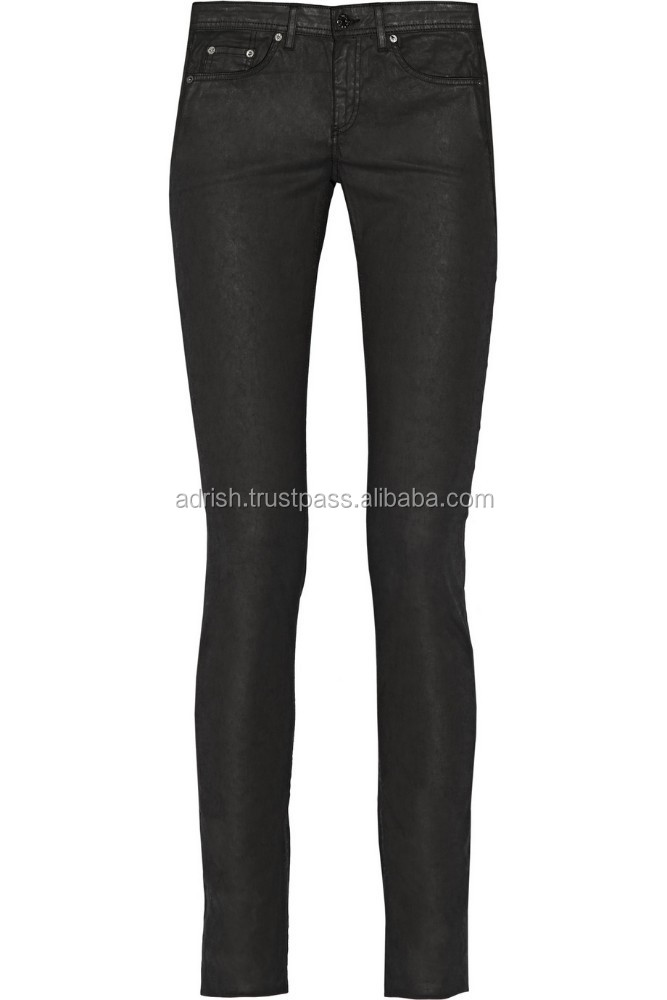 New style custom denim jeans/jeanswear black super skinny jeans