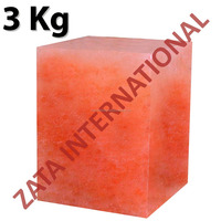 Himalayan Natural Rock Block Salt Licks Licking Feed Mineral Stone 3 Kg for Livestock Cattle Horse Camel Cow Sheep