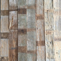 Recycled wood plank