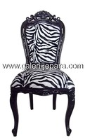 Dining Room Chair with Zebra Velvet - French Furniture