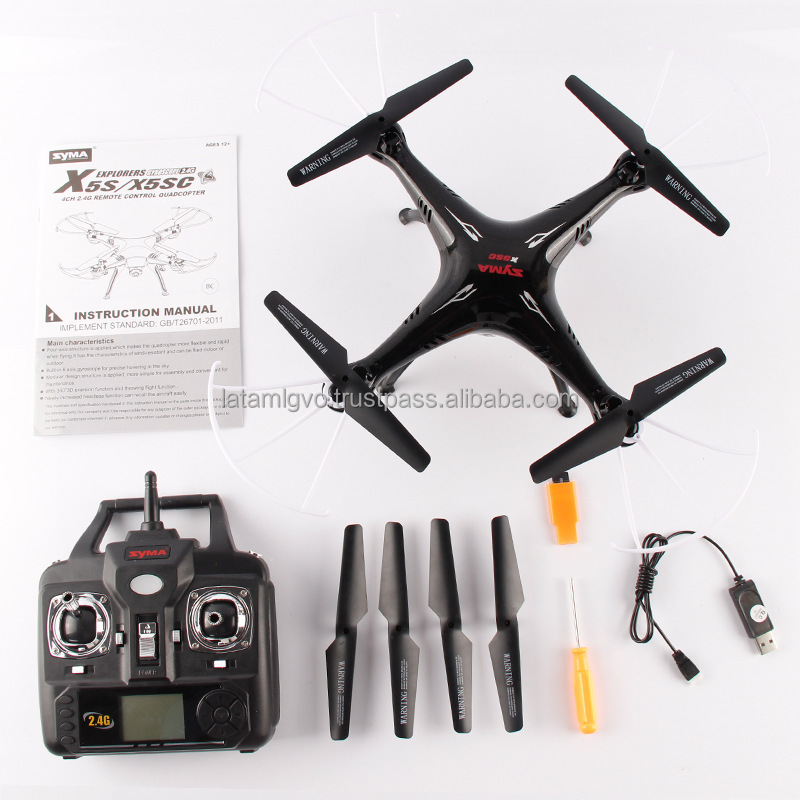 2015 new Syma X5SC-1 Drone Smallest Color Box RC Helicopter 2.4G 6 Axis RC Quadcopter 2MP Camera