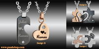 Custom Jewellery Necklaces With Names Engraving Services