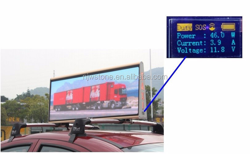 waterproof Advanced Energy-Saving P4 Taxi Roof LED Display