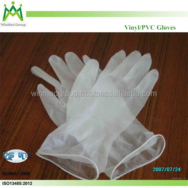 Waterproof Gloves /Vinyl Gloves PVC/High Quality Aql1.5/2.5/4.0 Powder free smooth surface PVC Glove