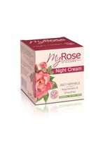 Night Cream Anti-Wrinkle Normal to Dry Skin Bulgarian Rosa Damascena Extract - 50ml. Paraben Free. Made in EU. Private Label