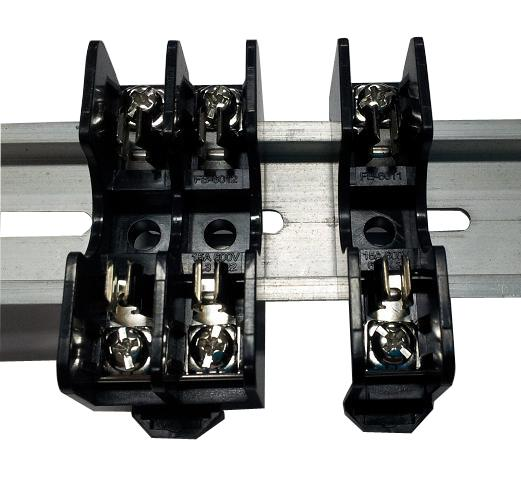 FB-6011 600V 20A Din Rail Mounting 6x30 Screw Fuse Block