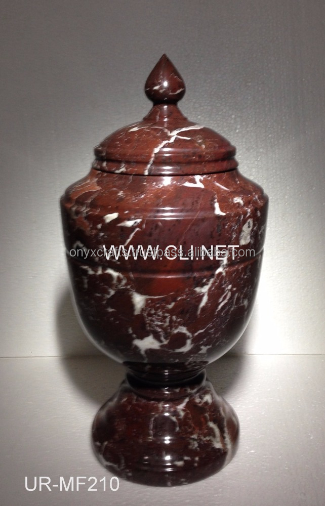Red Zebra Marble Cremation Funeral Urn in Best Price
