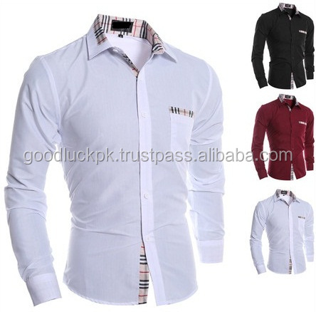 dress shirt - latest design men's slim fit dress shirt for business manufacturer