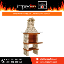 Get lowest Price on Masonry Barbeque Chimney with 100% Refractory Bricks