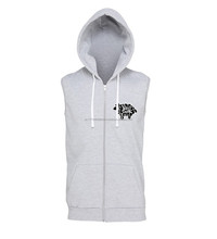 men's and women's zip up hoodie plain sleeveless,blank sleeveless hoodIES