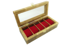 wooden watch box 5 slots