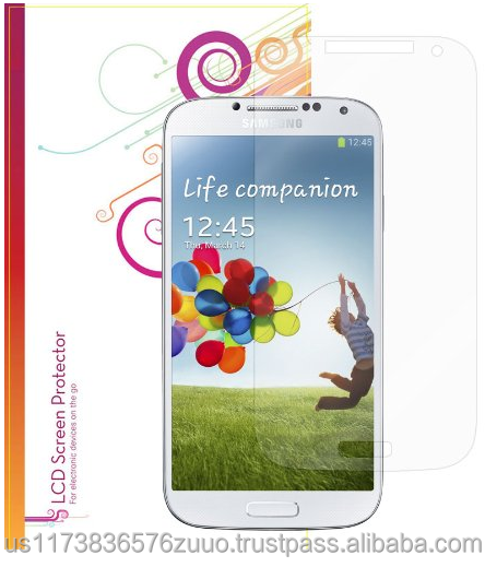 Ultra HD Plus Grade A Japanese multi-layer film with 99.8% transparency screen protector for Galaxy S4 roocase