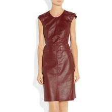 made in leather dress /leather hot wear/stylish leather women wearing