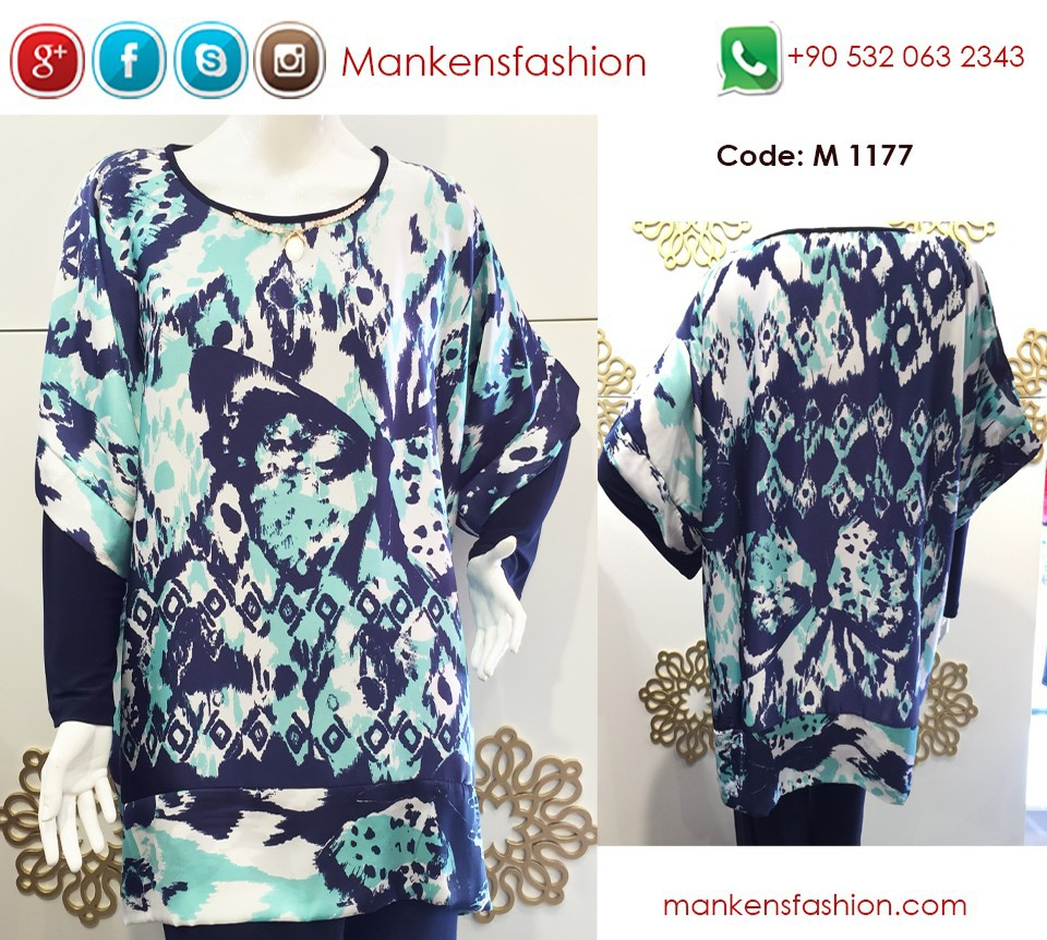 Abstract Painted Turkish Tunic - Wholesale Orders