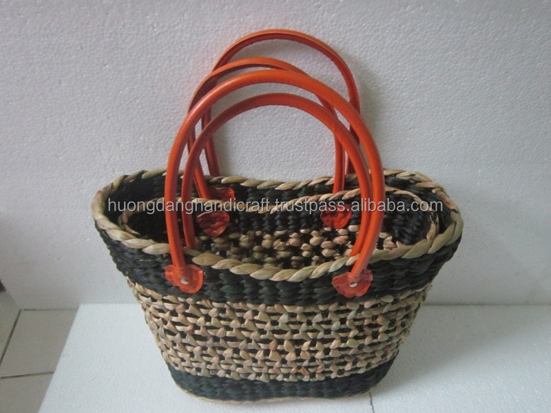 Water Hyacinth Handbag/ Sedge Material Shopping Bag- 100% Handmade in Vietnam