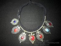 tribal fusion necklaces kuchi banjara fashion chokers bellydance jewelry