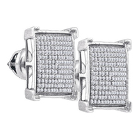 0.50Ct Real Natural Single Cut Diamond Earring In 925 Silver