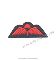 Red Parashot Machine Embroidered Wings