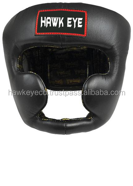 Genuine Leather Boxing Head Guard by Hawk Eye Co.