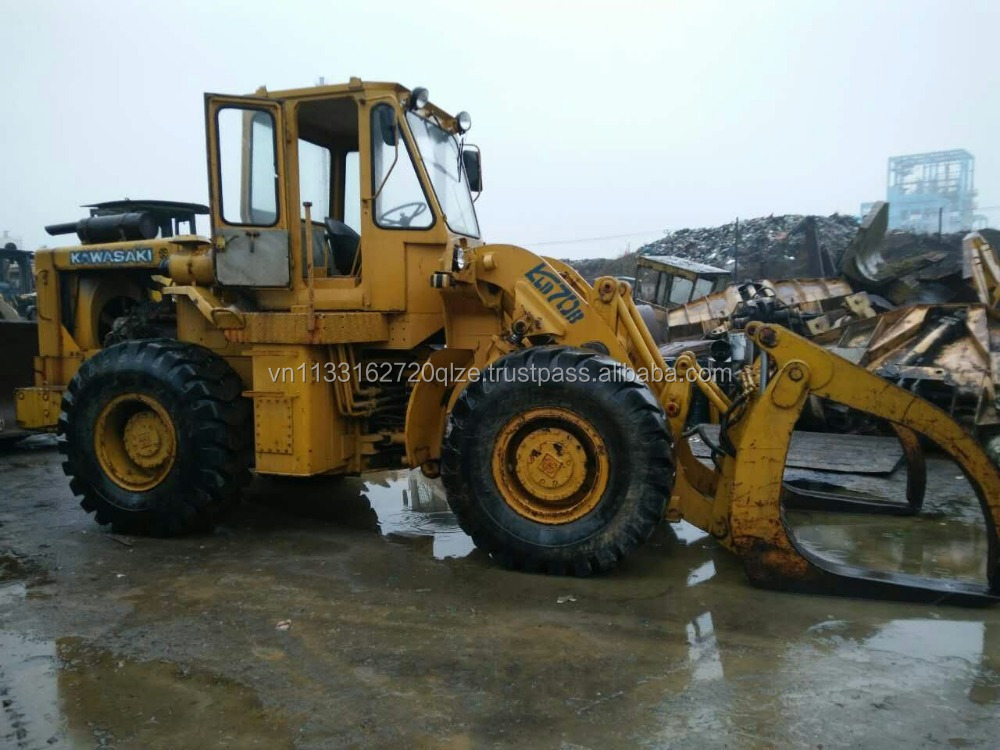 Used construction machinery cheap kawasaki 70B wheel loader