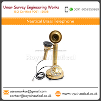 Hot Selling Excellent Design Old Style Nautical Antique Brass Telephone Available