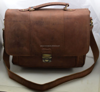 Formal occasion genuine leather Business office mens hand bag