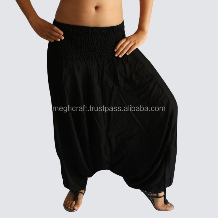 Wholesale Black Aladin harem pants-Rayon Trouser Cotton Harem Pant- Wholesale sarouel Vetement- India Pantalon Baggy