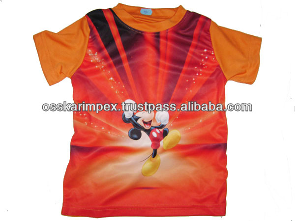 Sublimation/ heat transfer Printed T shirts