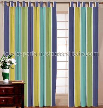 compact indian home decor curtain hotel decor cotton stripe curtain - Compact Hotel Decor