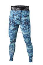 New custom gym wear Camoflage printed compression tights, compression wear