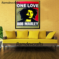 Indian Printed Bob Marley One Love Wall Hanging Hippie Home Decor Ethnic Tapestry