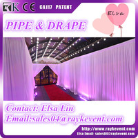 Wholesale portable stage curtain backdrop used pipe and drape for sale