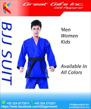BJJ suit supplier from Pakistan best quality 100% 350 gsm 550 Cotton / karate uniform / judo