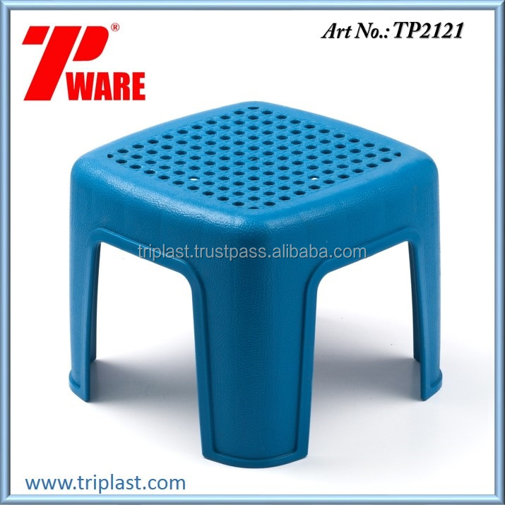 Square Short Stool or Chair PP Material Blue Color