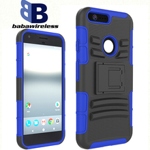 Custom waterproof cell phone case 3 in 1 Robot Hard Shell flashing powder thin soft shell For Google Pixel XL holster