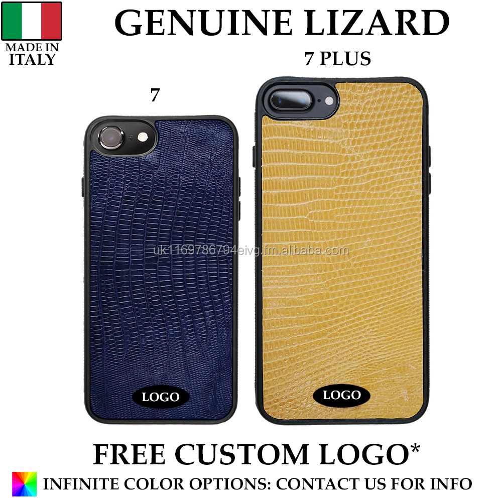 Genuine Italian Lizard Leather Mobile Phone Case Made in Italy