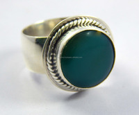 Natural green onyx 925 Sterling Silver Ring 925 sterling silver jewelry wholesale,JEWELRY EXPORTER